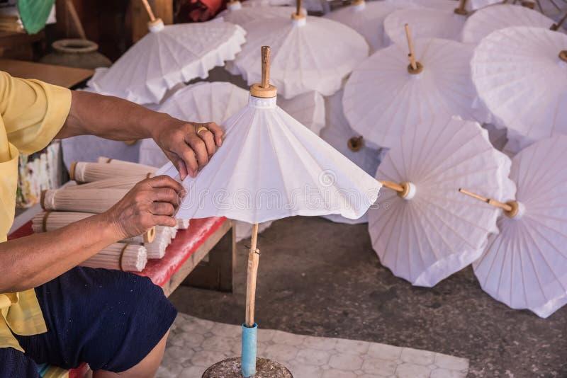 Copertura e colla sull'ombrello fotografia stock libera da diritti