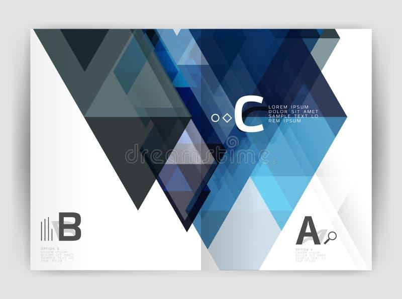 Copertura geometrica moderna del rapporto annuale di vettore illustrazione vettoriale