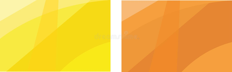 Copertura minima Linea astratta geometrica arancio modello di vettore per progettazione del manifesto Insieme delle coperture min illustrazione di stock