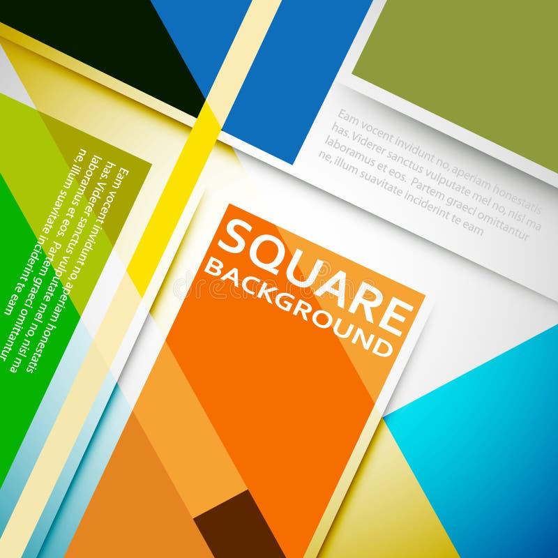 Copertura piana di progettazione dei quadrati di vettore illustrazione vettoriale