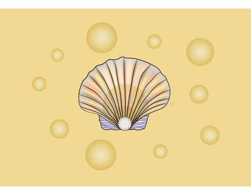 Coperture con la perla royalty illustrazione gratis