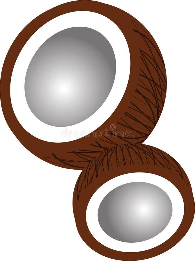 Coperture della noce di cocco illustrazione di stock