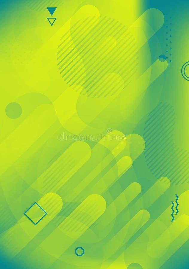 Coperture liquide di colore Manifesti futuristici di progettazione Composizione fluida in progettazione del fondo di forme di pen illustrazione vettoriale