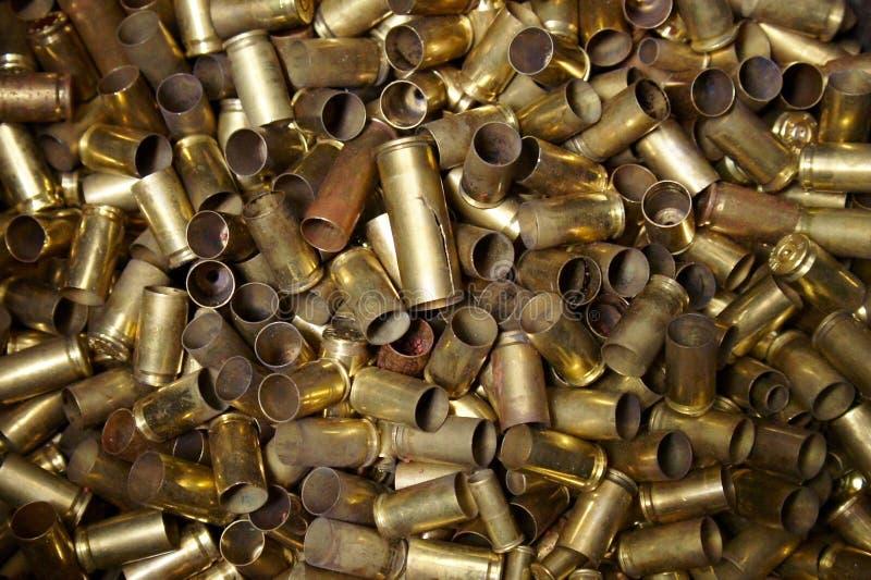 Coperture vuote della pallottola fotografie stock libere da diritti