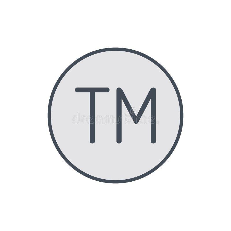 Copi l'icona di marchio di fabbrica di commercio di destra della restrizione del segno del copyright illustrazione vettoriale