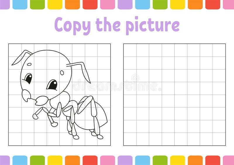 Copi l'immagine Pagine del libro da colorare per i bambini Foglio di lavoro di sviluppo di istruzione Gioco per i bambini Pratica royalty illustrazione gratis