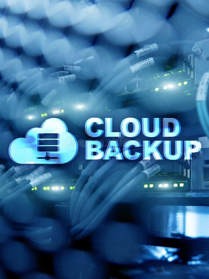 Copia de seguridad de la nube Prevención de la pérdida de datos del servidor Seguridad cibernética imágenes de archivo libres de regalías