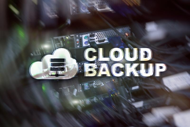 Copia de seguridad de la nube Prevención de la pérdida de datos del servidor Seguridad cibernética imagen de archivo libre de regalías