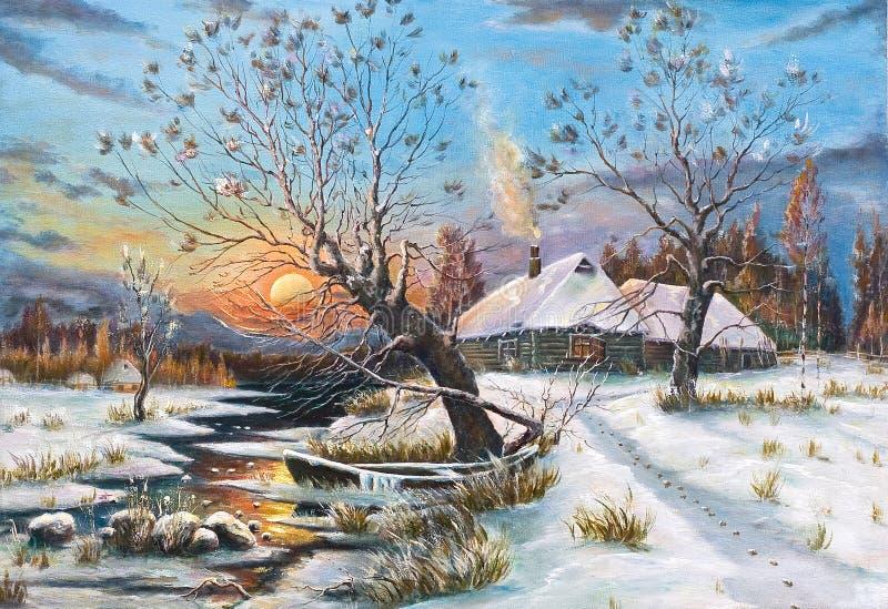 Copia de un cuadro del artista ruso Klever ilustración del vector