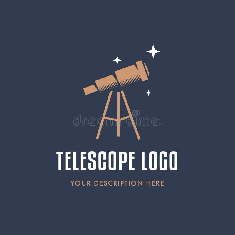 copia del Telescopio-logotipo ilustración del vector