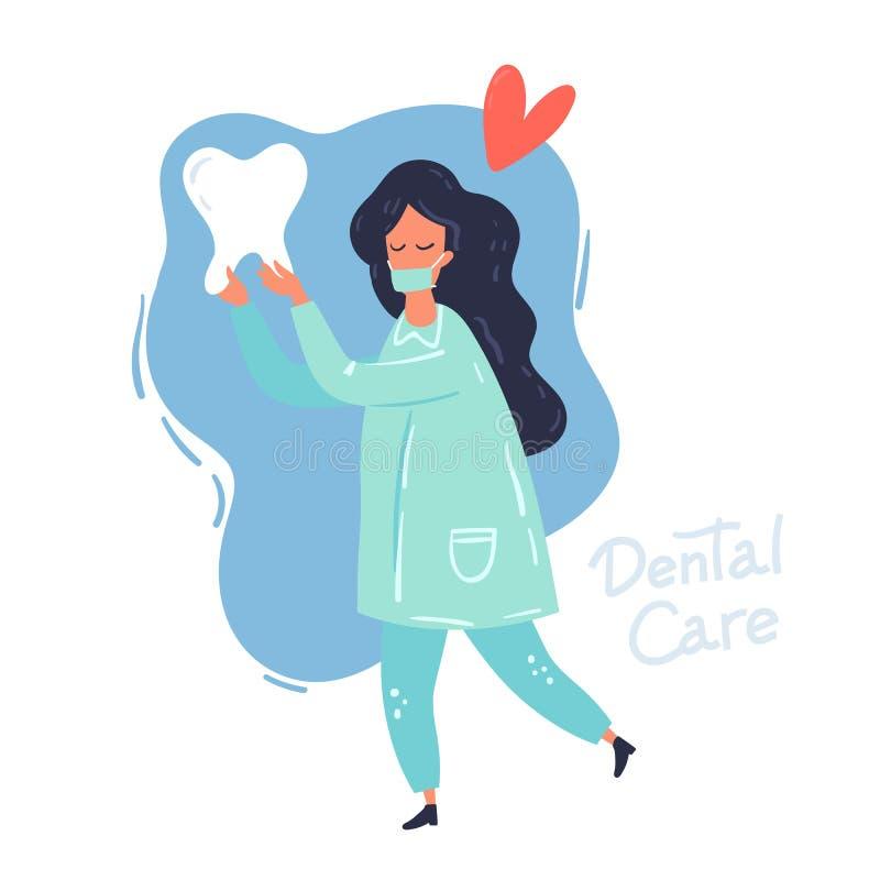 copia dell'Dentista-illustrazione illustrazione di stock