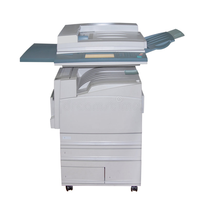 Copiadora do laser da cor foto de stock royalty free