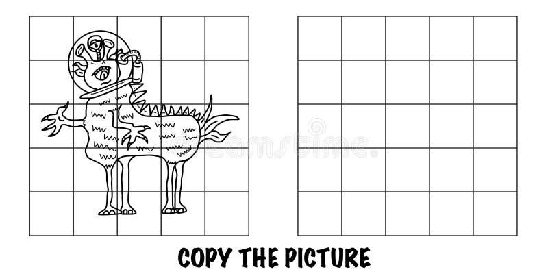Copiar a imagem Monstro alienígena louco Parece um cavalo ilustração royalty free