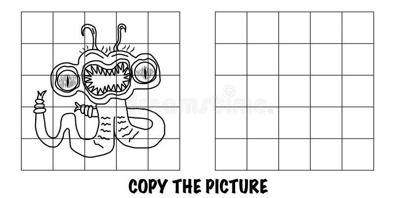 Copiar a imagem Monstro alienígena louco Parece uma cobra ilustração royalty free
