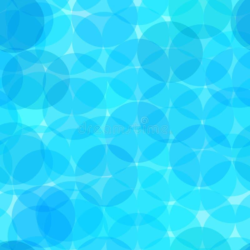 Copie bleue de textile de décoration de turquoise de motif de polka de point de modèle de fond de sarcelle d'hiver sans couture g illustration libre de droits