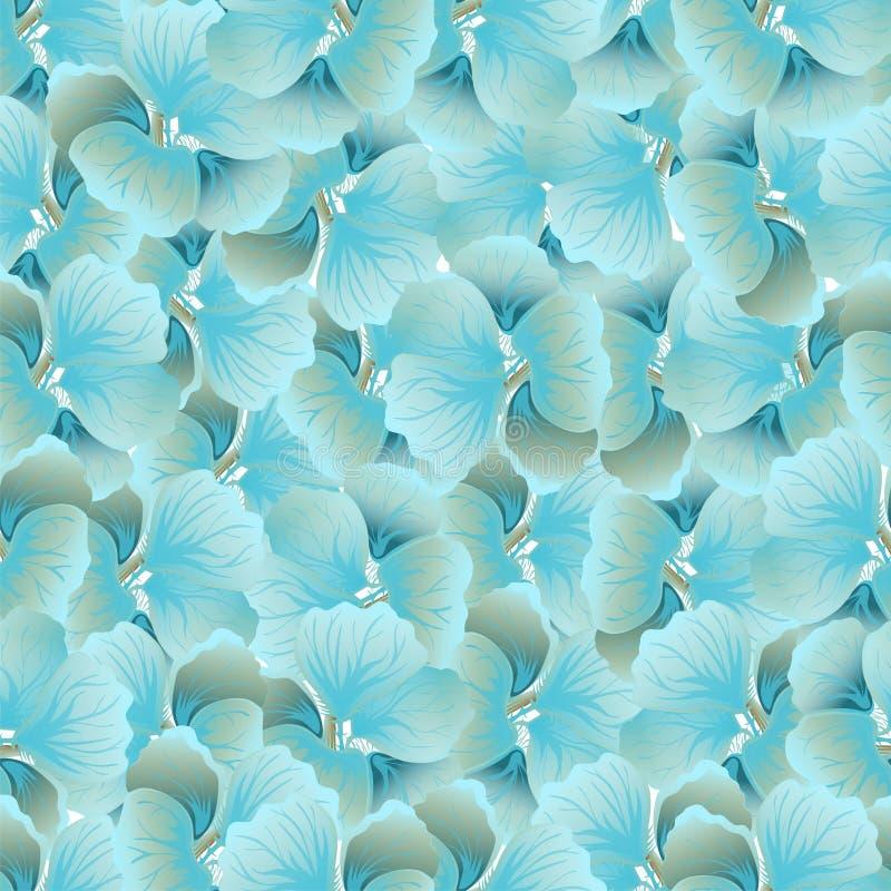 Copie bleue lumineuse de fleur Configuration florale de cru Fond sans joint dernier cri Texture de mode Papier peint monochrome V illustration de vecteur