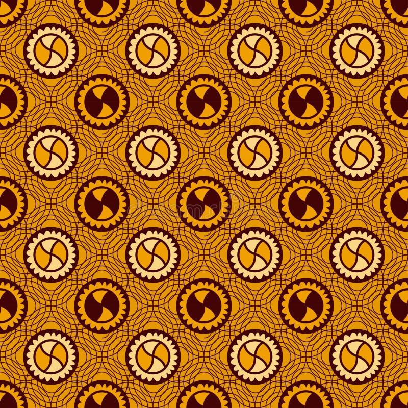 Copie colorée ethnique de mode de textile Texture sans joint illustration stock