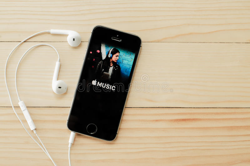 Copie d'écran de la musique d'Apple photos libres de droits
