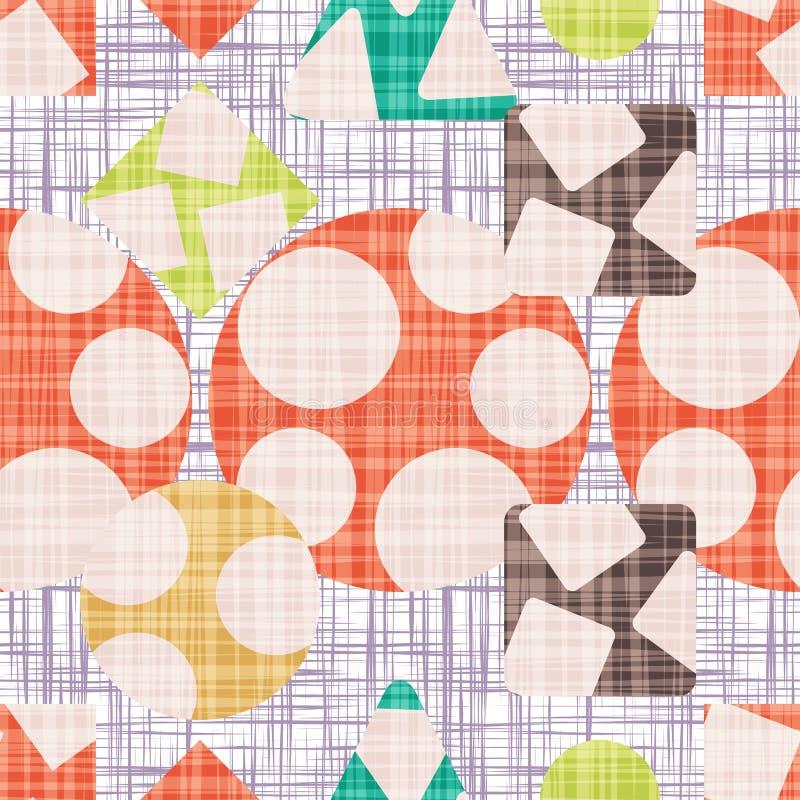 Copie d'abrégé sur tissu avec des formes géométriques illustration libre de droits