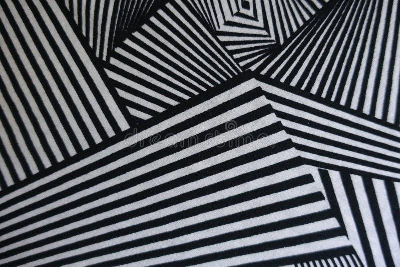 Copie d'angles sur le tissu noir et blanc image stock