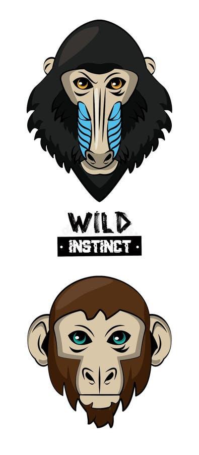 Copie d'animal sauvage pour le T-shirt illustration stock