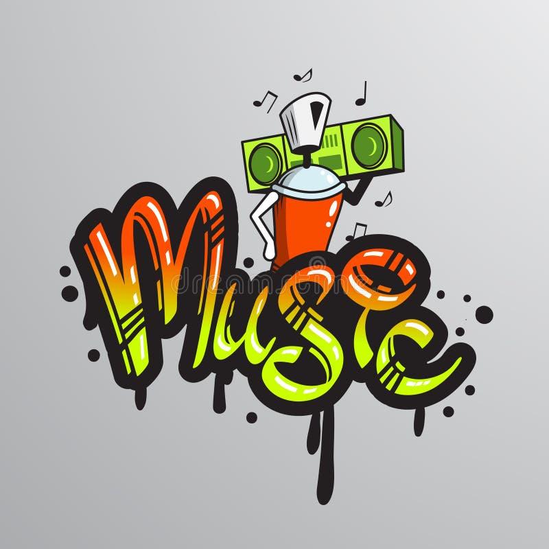 Copie de caractère de mot de graffiti illustration stock