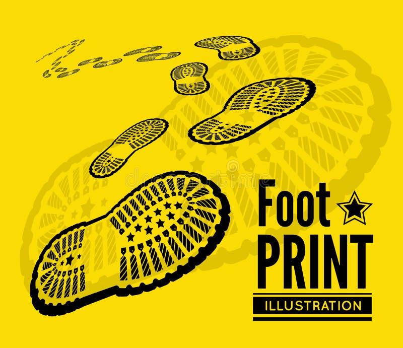 Copie de chaussure illustration stock