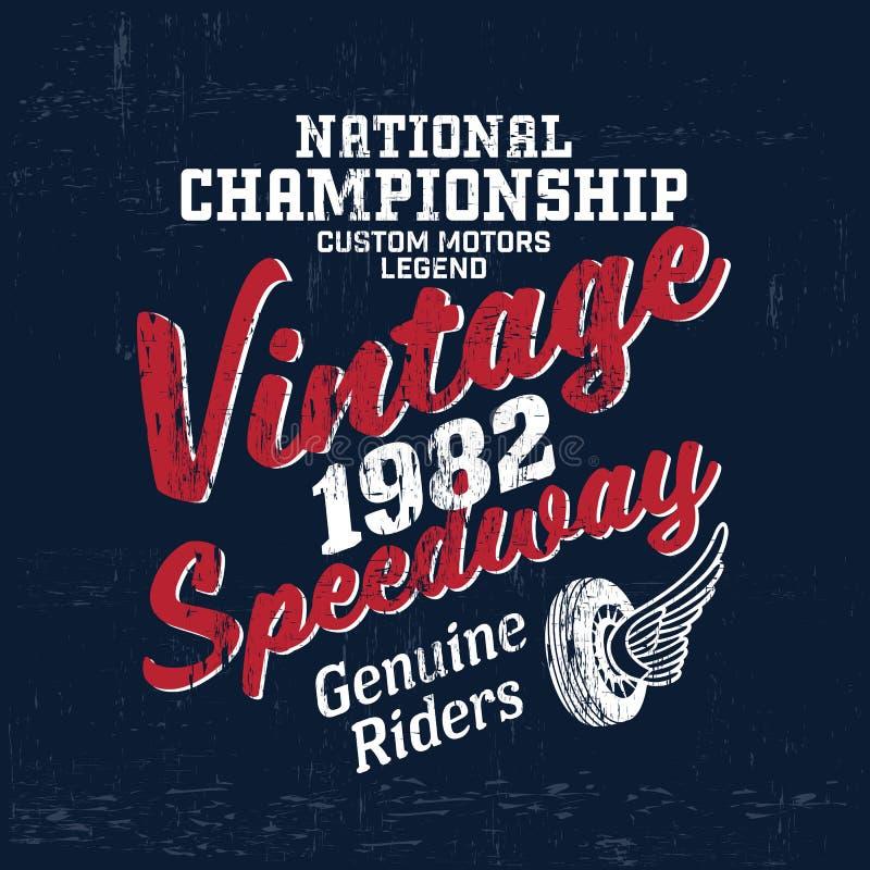 Copie de logo de marque de moteur de vintage de typographie pour le T-shirt Rétro illustration de vecteur d'illustration illustration de vecteur