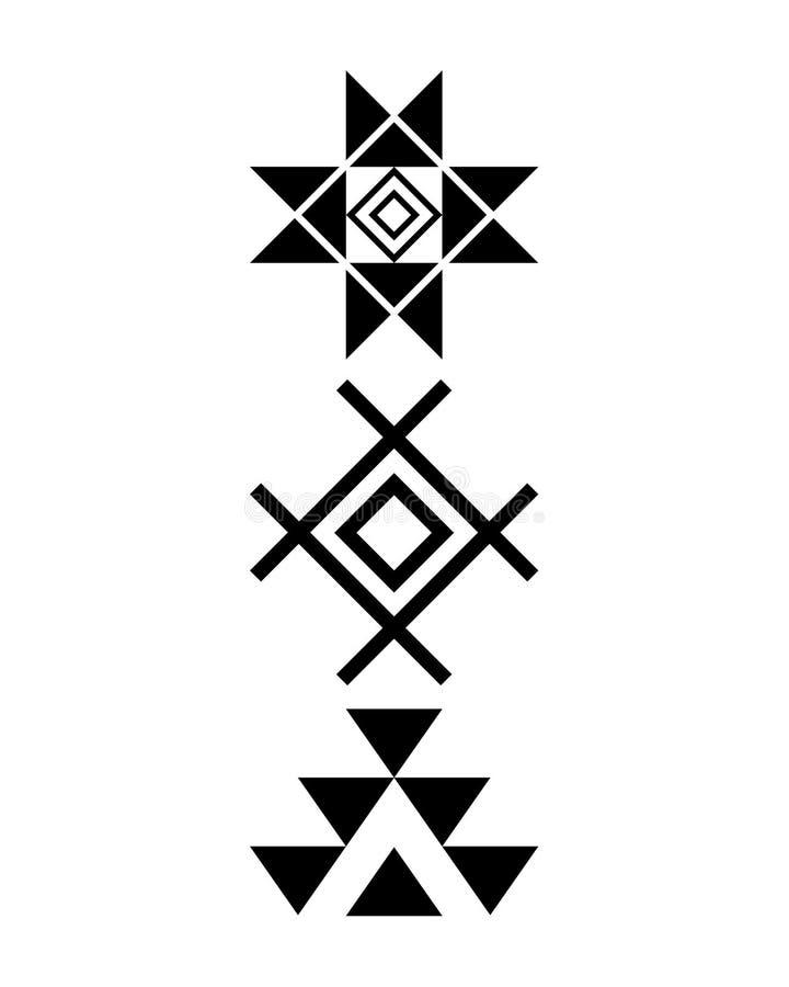 Copie de Navajo, modèle aztèque, conception tribale, Natif américain illustration de vecteur