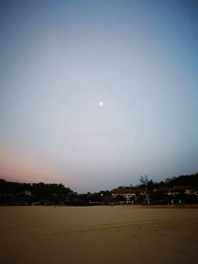 Copie de pied sur la plage sablonneuse blanche, marchant nu-pieds le long de la plage photographie stock