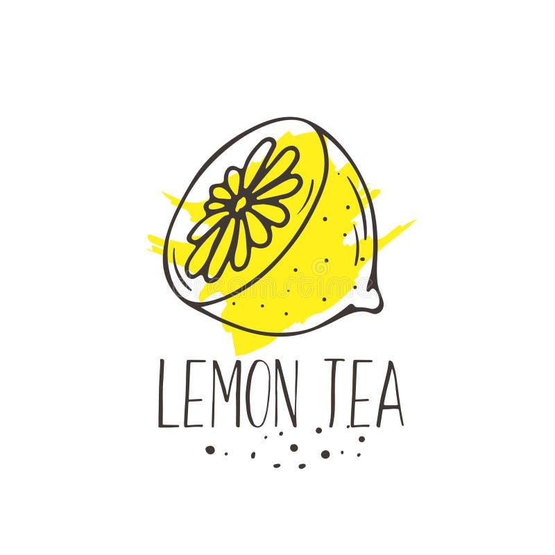 Copie de thé de citron illustration stock