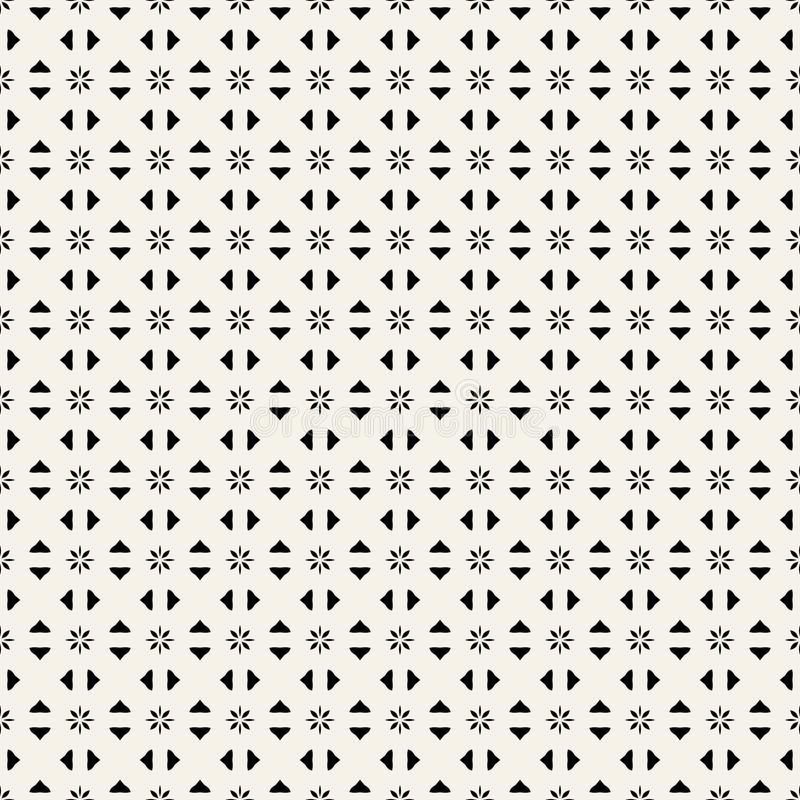 Copie de tissu Modèle géométrique dans la répétition Fond sans couture, ornement de mosaïque, style ethnique Deux couleurs illustration stock