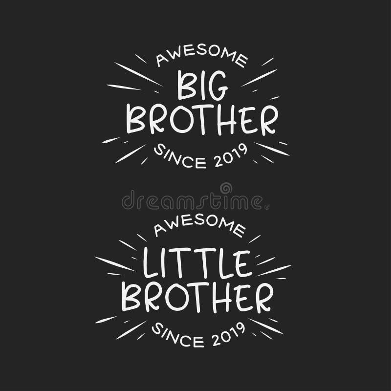 Copie de typographie de petit frère de frère Illustration de vintage de vecteur illustration de vecteur
