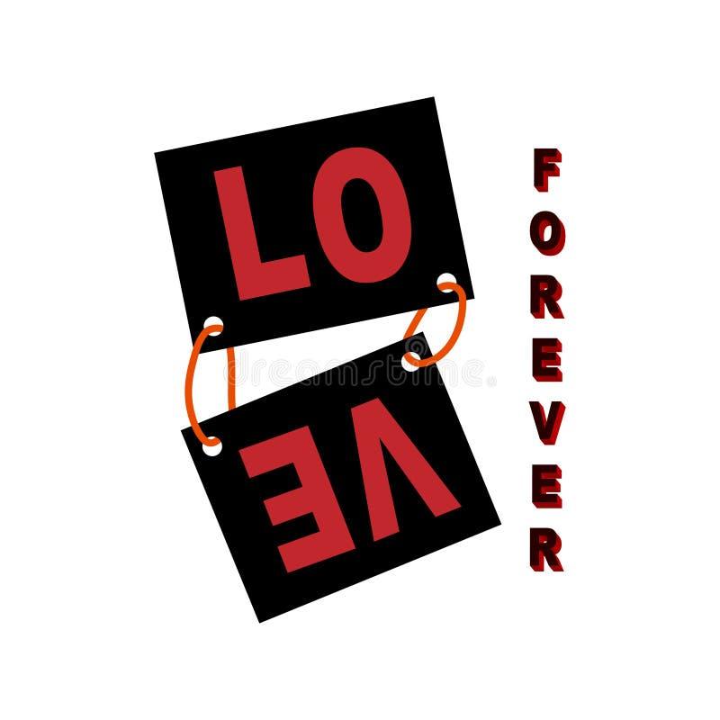 Copie de vecteur de slogan d'amour Graphiques de T-shirt illustration stock