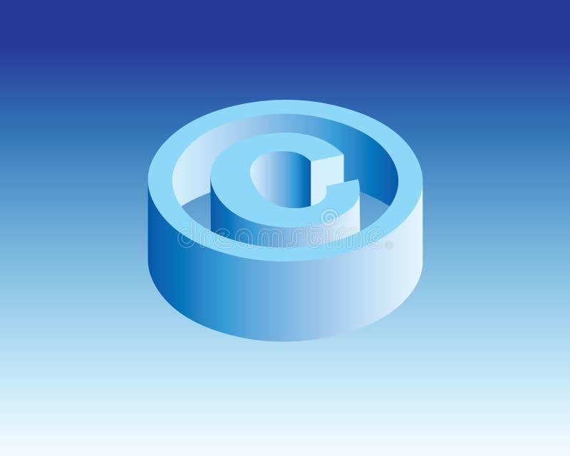 Copie el icono y la muestra correctos 3d ilustración del vector