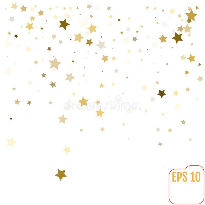 Copie en baisse d'étoile et modèle créatif moderne Ba étoilé argenté illustration libre de droits