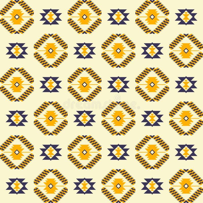 Copie géométrique abstraite aztèque d'art Configuration sans joint ethnique illustration libre de droits