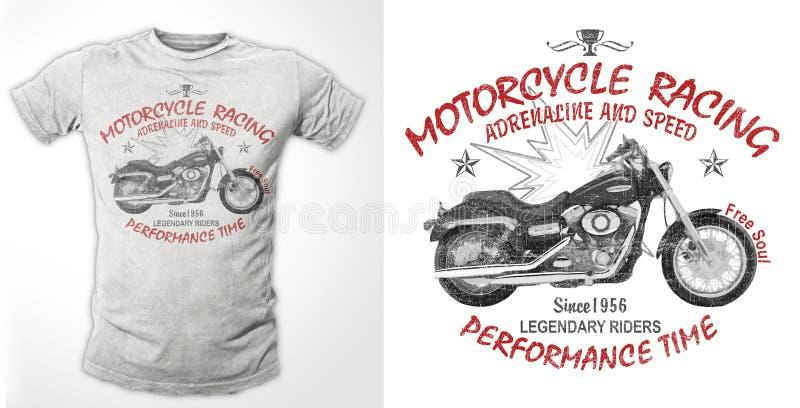 Copie graphique de moto, copie de T-shirt illustration libre de droits