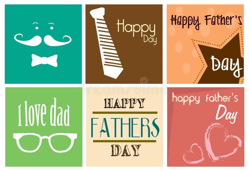 Copie heureuse de jour de pères illustration stock
