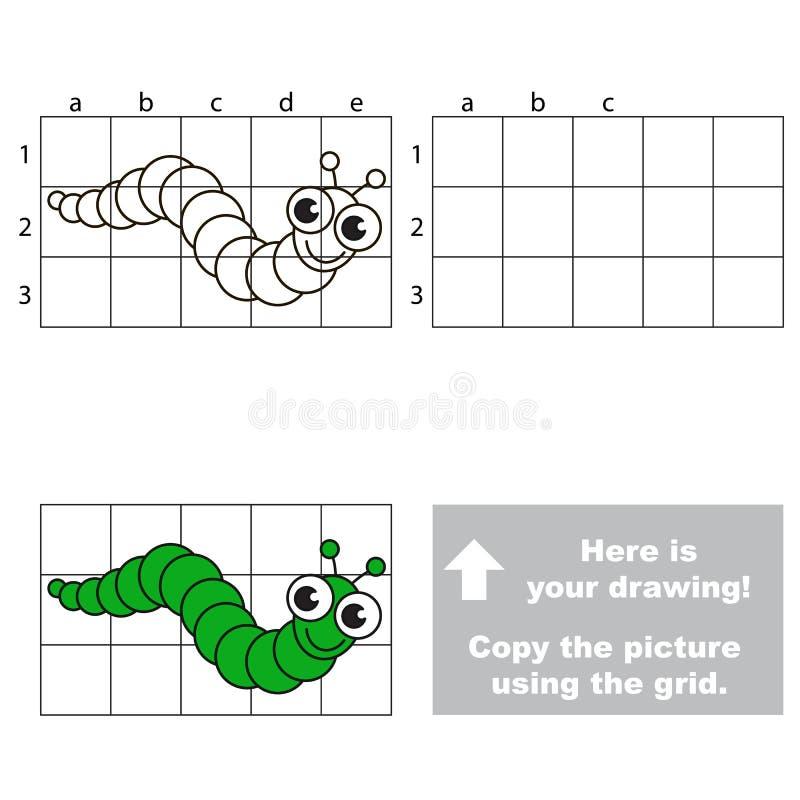 Copie a imagem usando a grade lagarta ilustração do vetor