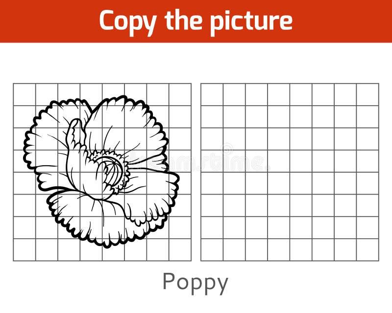 Copie la imagen, amapola ilustración del vector