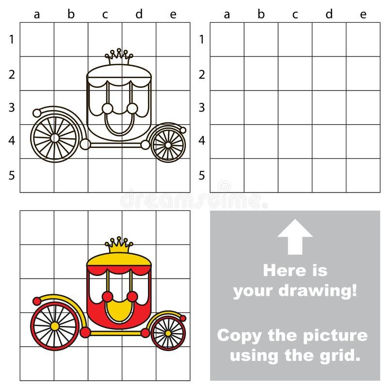 Copie la imagen usando rejilla, el juego educativo simple del niño libre illustration