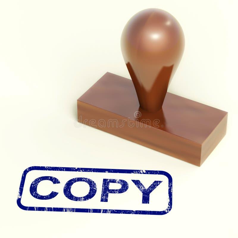 Copie la réplica del duplicado de las demostraciones del sello de goma o reprodúzcase stock de ilustración