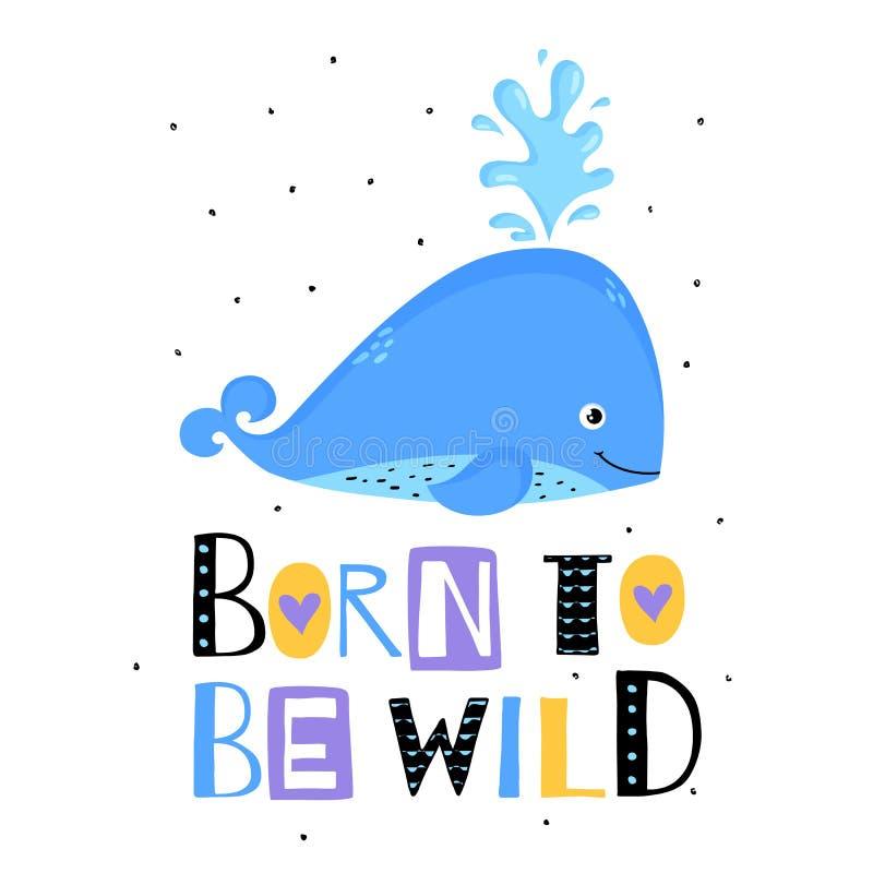 Copie mignonne de baleine Illustration de vecteur illustration stock