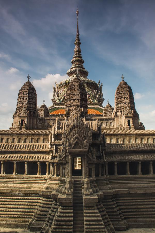 Copie miniature d'Angkor Wat Temple chez Wat Phra Kaeo photos stock