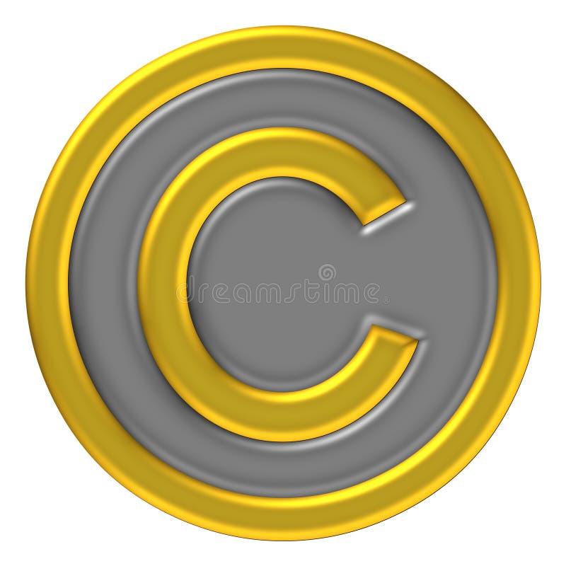 Copie o ícone direito da marca ilustração stock