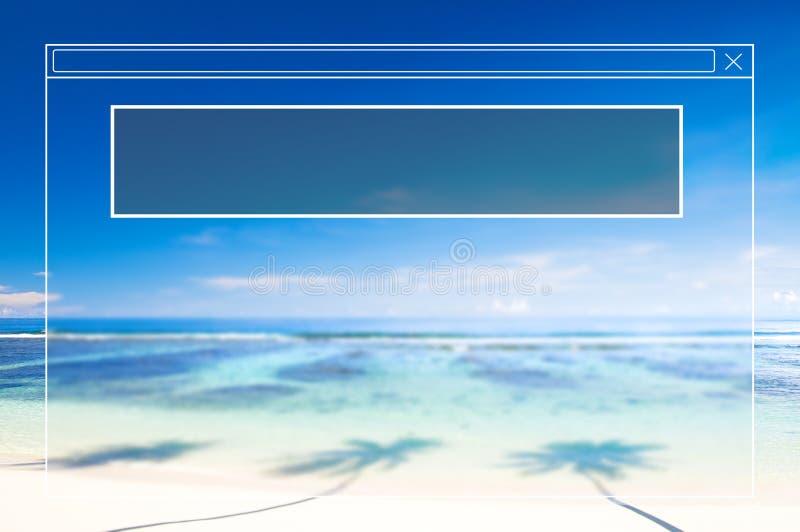 Copie o conceito do feriado das férias de verão do quadro do espaço ilustração do vetor