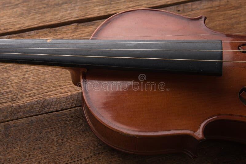 copie o espaço com fim acima do tiro de um violino & de um x28; violino, violoncelo, sympho fotos de stock