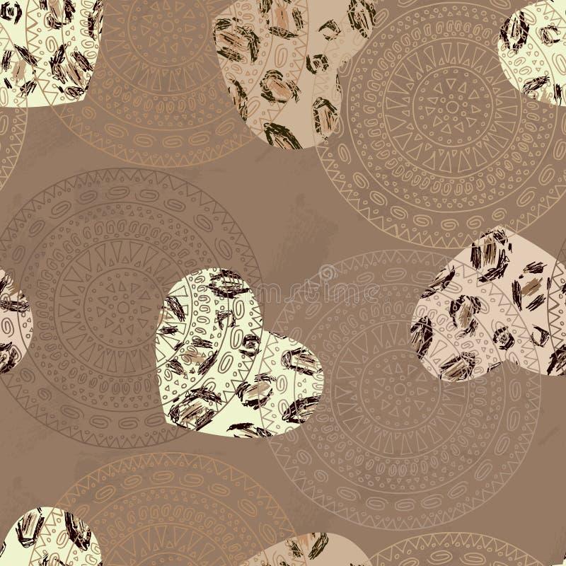 Copie pour le tissu avec le graphique abstrait illustration de vecteur