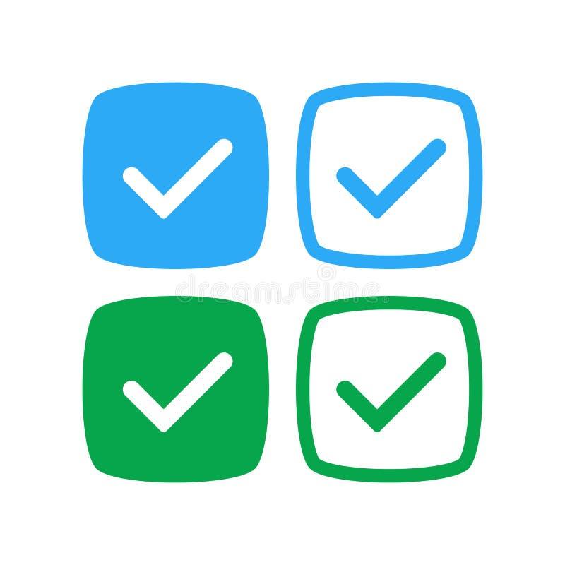 Copie Social-networks-verified-badges-2 illustration de vecteur